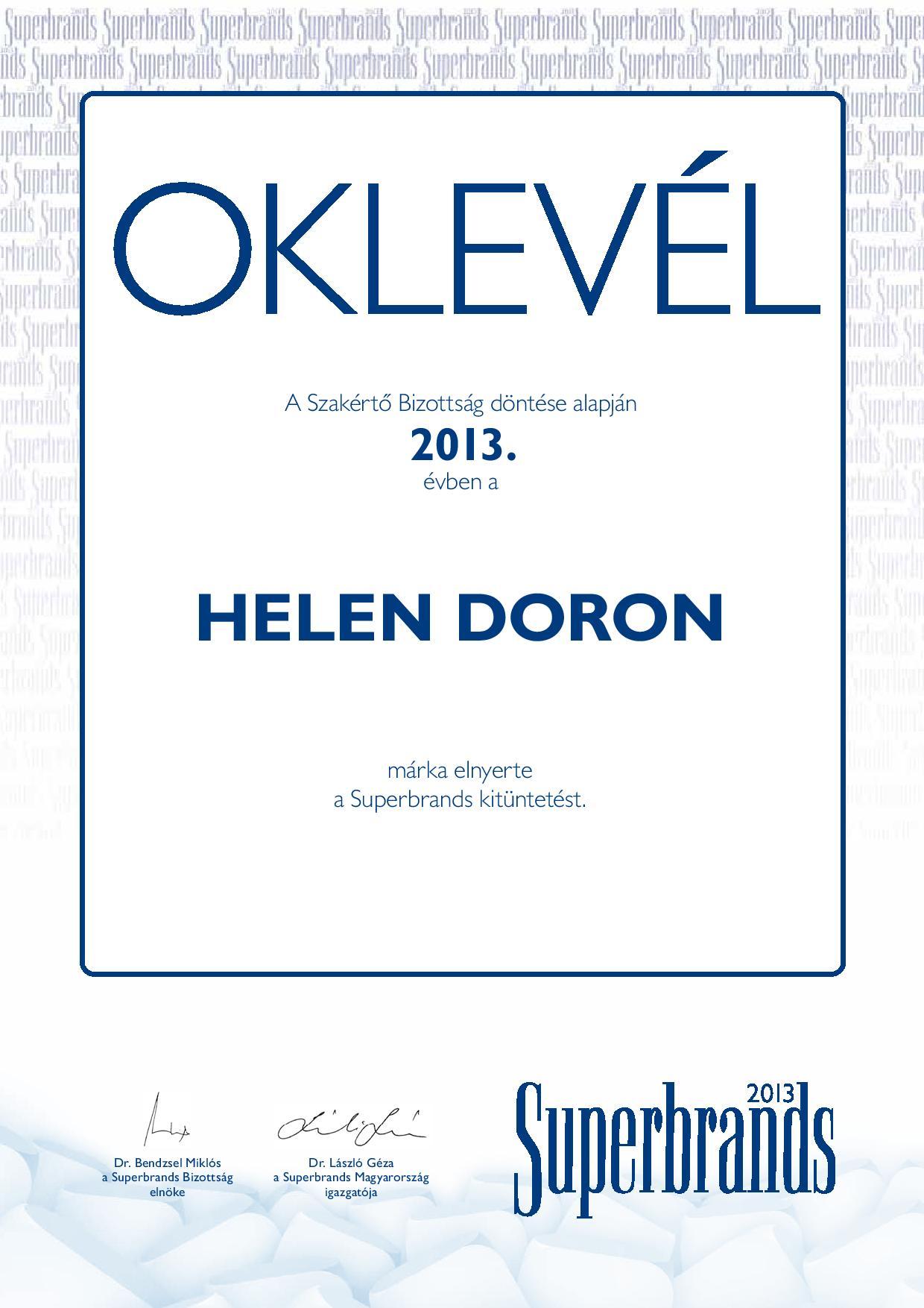 2013-ban Superbrand lett a Helen Doron angol gyerekeknek!